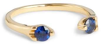 Anita Ko Orbit Blue Sapphire Open Ring