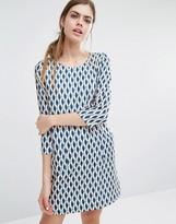 Suncoo Candy Shift Dress in Geo Print