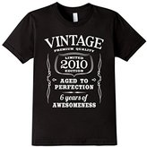 Kids 6th Birthday Gift T-Shirt Vintage Ltd 2010 Edition (Fitted)
