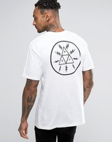 HUF T-Shirt With Voltage Triangle Back Print