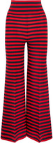 Sonia Rykiel Striped Knitted Wide-leg Pants - Red