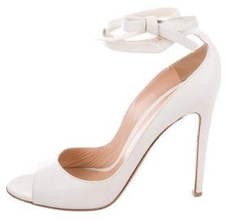 Gianvito Rossi Leather Ankle Strap Pumps