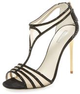 Giorgio Armani Embellished T-Strap Sandal