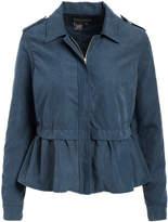 Live A Little Women's Non-Denim Casual Jackets dk - Dark Blue Peplum-Hem Jacket - Women
