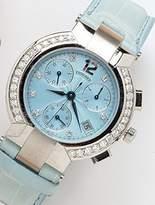 Concord La Scala Chronograph Diamond Bezel Diamond Hour Markers Date Sapphire Crystal Women's Watch
