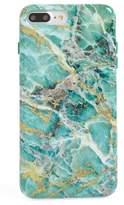 VELVET CAVIAR Blue Lily Floral Marble iPhone 7/8 Plus Case