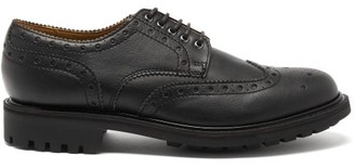 Grenson Archie Faux-leather Brogues - Black