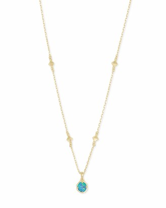 Kendra Scott Nola Pendant Necklace for Women Fashion Jewelry 14k Gold Plated Violet Kyocera Opal Illusion