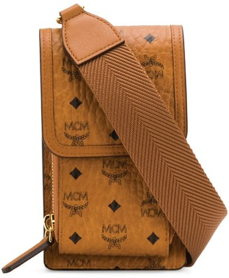 MCM Visetos Cross-Body Phone Case