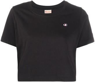 Champion logo-patch cropped T-shirt