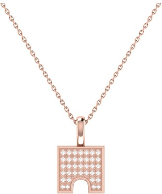 Lmj City Arches Pendant In 14 Kt Rose Gold Vermeil On Sterling Silver
