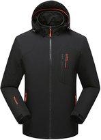 Magcomsen Sportswear men's Waterproof Jacket Hooded Softshell Hiking Climbing Raincoat