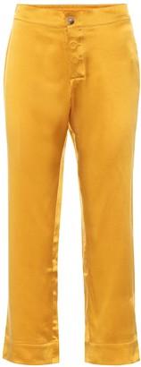 ASCENO Antibes silk high-rise straight pants