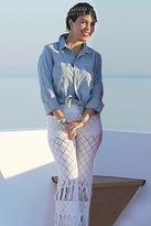 Nightcap Clothing Diamond Crochet Bell Bottom in White