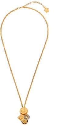 Versace 24kt Gold-Plated Pendant Necklace