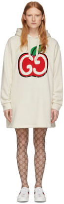 Gucci Off-White GG Apple Hoodie Dress