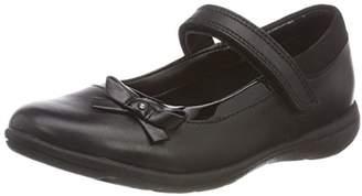 Clarks Venture Star, Girls' Ankle-Strap Ballet Flats, Black (Black Leather), (30 EU)