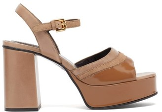 See by Chloe Leather Platform Sandals - Beige