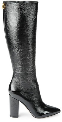 Valentino Knee-High Patent Leather Boots