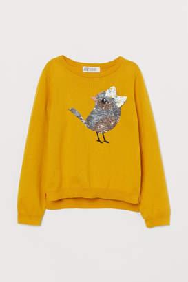H&M Sequin-motif jumper