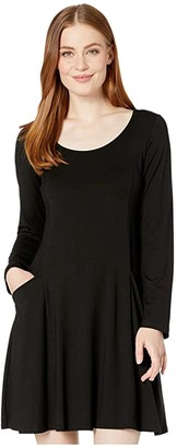 Karen Kane Pocket Dress (Black) Women's Dress