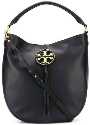 Tory Burch Miller metal-logo Slouchy Hobo bag