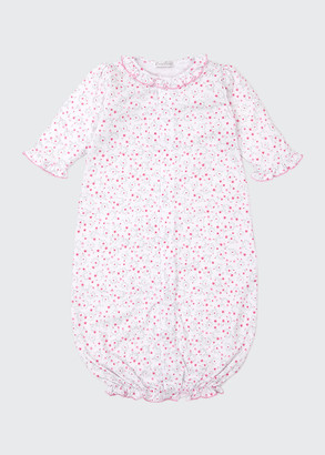 Kissy Kissy Silver Stems Floral Convertible Gown, Size Newborn-Small
