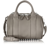 Alexander Wang Rockie Mink Gray Pebbled Leather Satchel w/Studs