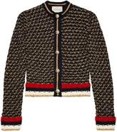 Gucci Lurex blend cardigan with Web