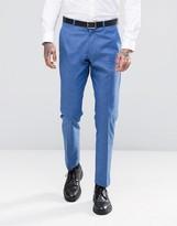 Asos Slim Suit Pants in Blue