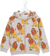 Mini Rodini lion hoodie - kids - Organic Cotton/Spandex/Elastane - 3 yrs