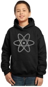 La Pop Art Boy's Word Art Hoodies - Atom
