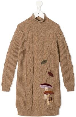 Dolce & Gabbana Kids Applique Detail Knitted Dress