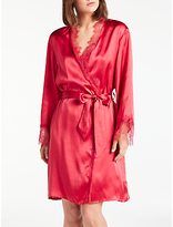 Somerset by Alice Temperley Silk Trim Dressing Gown, Red