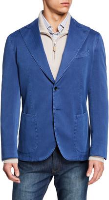 Neiman Marcus Men's Solaro Stretch-Denim Two-Button Jacket