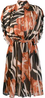 Just Cavalli floral print shirt dress