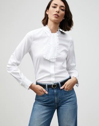 Lafayette 148 New York Petite Italian Stretch Cotton Rowland Shirt