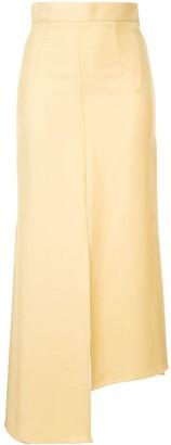ALEKSANDRE AKHALKATSISHVILI High-Waisted Asymmetric Skirt