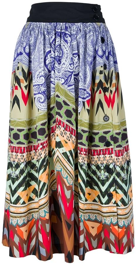 Etro printed skirt