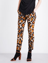 Anglomania New Moki leopard-patterned stretch-cotton trousers