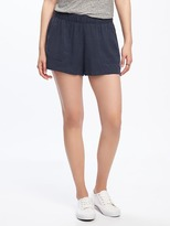"""Old Navy Mid-Rise Soft Pull-On Utility Shorts for Women (4"""")"""