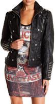 Affliction Black Horn Faux Leather Jacket
