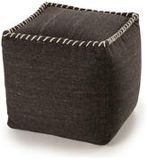 Yumanmod Stitched Wool Ottoman, Black