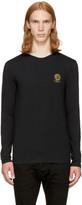 Versace Underwear Black Long Sleeve Small Medusa T-shirt