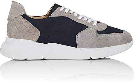 Barneys New York MEN'S CHUNKY-SOLE NYLON & SUEDE SNEAKERS