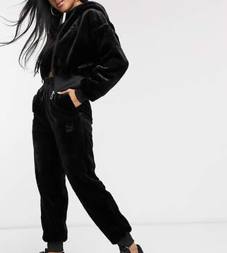 Puma Faux Fur Joggers Black
