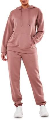 Missguided 2-Piece Cotton-Blend Hoodie Pants Set