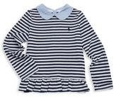 Ralph Lauren Toddler's, Little Girls & Girl's Chambray-Collar Striped Top