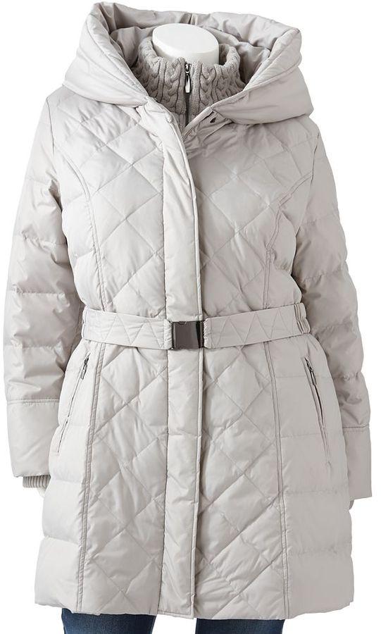Apt. 9 hooded puffer jacket - women's plus