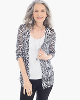 Chico's Graphic Side-Ruched Rita Cardigan